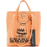 Marc Jacobs Bolsa Tote Charlie Brown - Laranja