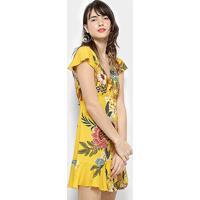 Vestido Farm Peplum Floral Bongo - Feminino-Estampado