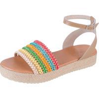 Sandália Flatform Jurerê Mercedita Shoes Colorida