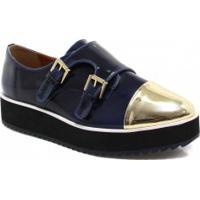 Sapato Zariff Shoes Oxford Flatform Monk Strap