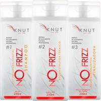 Kit Knut Shampoo Antiresíduos 250Ml + Reconstrutor Térm 250Ml + Máscara Bionutritiva 250Ml - Unissex
