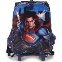 Mochilete Infantil Luxcel Batman Vs Super Homem - Azul