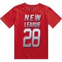 Camiseta Manga Curta Estampada Vermelho
