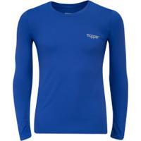 Camisa Térmica Manga Longa Com Proteção Solar Uv 50 Topper - Masculina - Azul