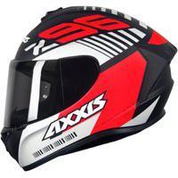 Capacete Axxis Draken Z96 Preto Vermelho Fosco