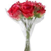 Buquê Rosa Hidrangea X11 Vermelho R-32948-009