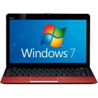 "Netbook Asus 1215B-Red013S - Amd® Fusion C-50 - Ram 2Gb - Hd 500Gb - Led 12.1"" - Windows 7 Starter"