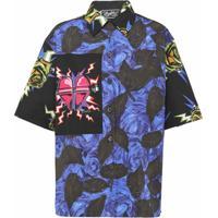 Prada Camisa Floral - Azul