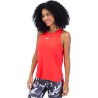 Camiseta Regata Nike Tank Rebel Gx - Feminina - Laranja Escuro