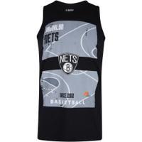 Camiseta Regata Nba Brooklyn Nets Court - Masculina - Preto