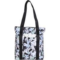 Bolsa Puma Core Base Shopper Feminina - Feminino-Preto+Verde Água