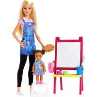 Boneca Barbie Profissões Professora De Artes - Mattel - Kanui