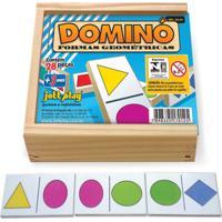 Dominó Formas Geométricas 28 Peças - Jottplay