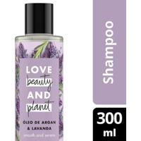Shampoo Smooth And Serene Óleo De Argan & Lavanda Love Beauty And Planet 300Ml - Feminino-Incolor