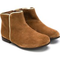 Pépé Kids Side Zip Ankle Boots - Marrom