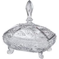 Bomboniere Com Arabescos- Cristal- 20X19X13,5Cm-Full Fit