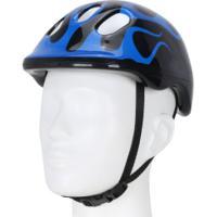 Capacete Para Bike Spin Radical - Infantil - Preto/Azul