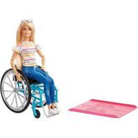 Boneca Barbie Fashionistas Cadeira De Rodas Com Acessórios - Feminino-Colorido