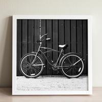 Poster Emoldurado - Vintage Black Bike
