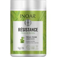 Máscara Inoar Résistance Fibra De Bambu Hidratante 1Kg - Unissex