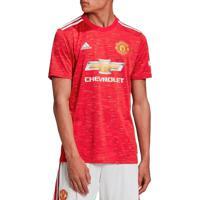 Camisa Masculina Adidas Manchester United I 20/21 Vermelho/Branco - P