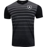 Camiseta Do Botafogo 19 - Masculina - Preto/Cinza Esc