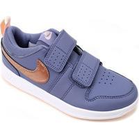 Tênis Infantil Nike Pico 5 Psv - Unissex-Azul+Dourado