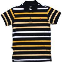 Camisa Simple Skateboard Gola Polo Tricolor Golden