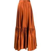 Plan C Ruffled Hem Skirt - Laranja