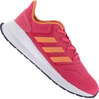 Tênis Adidas Run Falcon K - Infantil - Rosa/Laranja