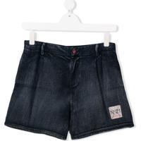 Nº21 Kids Bermuda Jeans - Azul