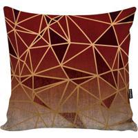 Capa De Almofada New Geometric- Vermelha & Bordã´- 45Stm Home