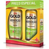 Kit Shampoo Niely Gold Hidratação Água De Coco 300Ml + Condicionador 200Ml