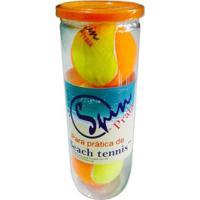 Bola De Beach Tennis Spin Praia Com 3 Bolas - Unissex