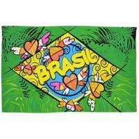 Canga Praia Bandeira Do Brasil Romero Britto Pink Lingerie