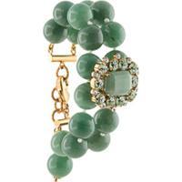 Dolce & Gabbana Pulseira De Contas Com Aplicações De Cristais - Verde