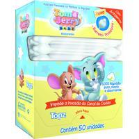 Haste Flexível Bastonete Topz Tom E Jerry Baby Com 50 Unidades