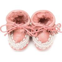 Mou Kids Sapato De Bebê Esquimó - Rosa