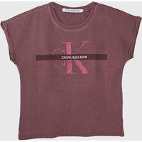 Blusa Calvin Klein Kids Infantil Logo Vinho