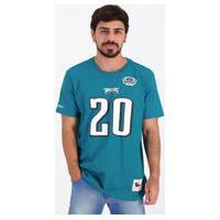 Camiseta Mitchell Ness Nfl Philadelphia Eagles Azul Petróleo