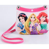 Kit Bolsa Cinto Infantil Estampa Princesas Disney