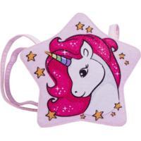 Bolsa Infantil Princesa Pink Bolsa Estrela Glitter Rosa