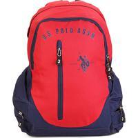 Mochila U.S. Polo Assn Grande Logo - Masculino-Vermelho