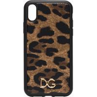 Dolce & Gabbana Capa Para Iphone Xr Animal Print - Marrom