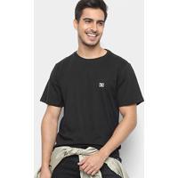 Camiseta Dc Shoes Slim Basic Logo Masculina - Masculino-Preto