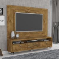 Rack Com Painel Para Tv 55 Polegadas Olimpo Plus 180Cm Mel