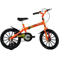 Bicicleta Track Bikes Dino Neon Infantil - Aro 16 - Unissex