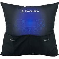 Almofada Porta Controle De Videogame Play Station Geek10 - Preto