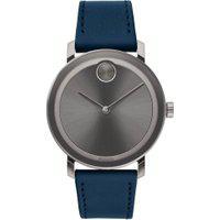 Relógio Movado Masculino Couro Azul - 3600507