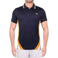 Camisa Polo Lacoste Masculina - Masculino-Marinho